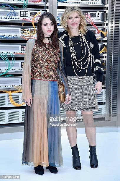 Frances Bean Cobain and Courtney Love attend the Chanel show as part of the Paris Fashion Week Womenswear Spring/Summer 2017 on October 4 2016 in...