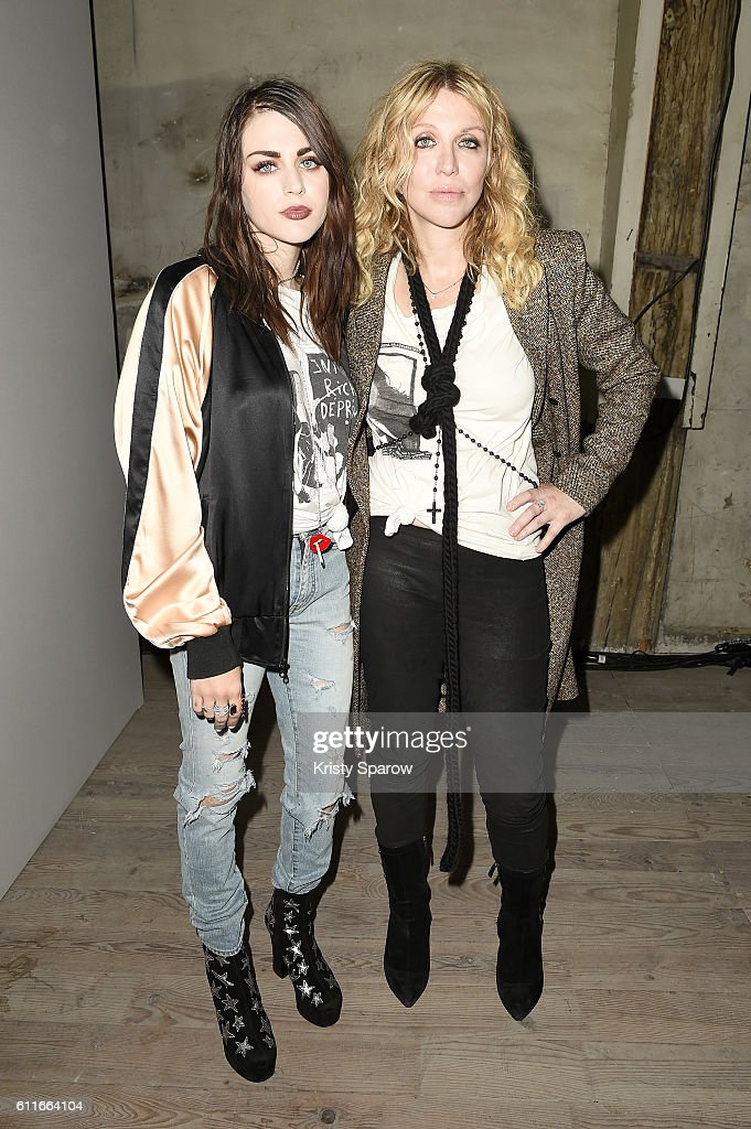 Frances Bean Cobain and Courtney Love attend the Enfants Riches Deprimes show as part of Paris Fashion Week Womenswear Spring/Summer 2017 on September 30, 2016 in Paris, France.