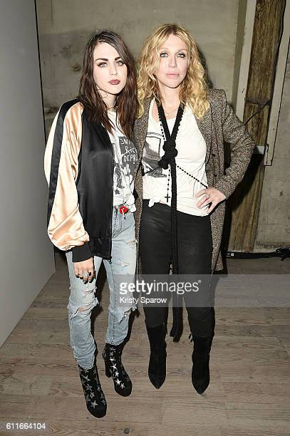Frances Bean Cobain and Courtney Love attend the Enfants Riches Deprimes show as part of Paris Fashion Week Womenswear Spring/Summer 2017 on...