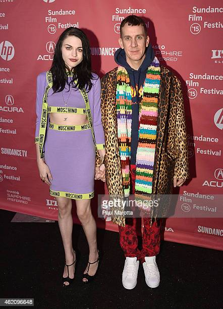 Frances Bean Cobain and designer Jeremy Scott attend the 'Kurt Cobain Montage Of Heck' Premiere during the 2015 Sundance Film Festival at The Marc...