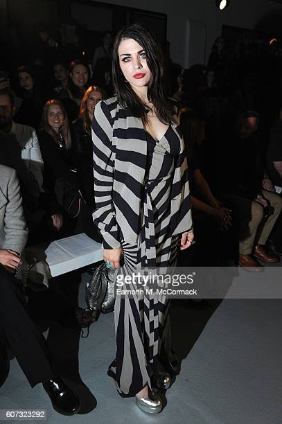 Frances Bean Cobain attends the Gareth Pugh show during London Fashion Week Spring/Summer collections 2017 on September 17 2016 in London United...