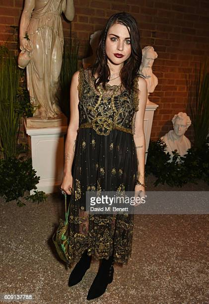 Frances Bean Cobain attends the launch party hosted by Christopher Bailey and Jefferson Hack to celebrate the Burberry and Dazed cover featuring Jean...