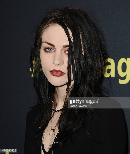 Frances Bean Cobain attends the premiere of HBO Documentary Films' 'Kurt Cobain Montage Of Heck' at the Egyptian Theatre on April 21 2015 in...