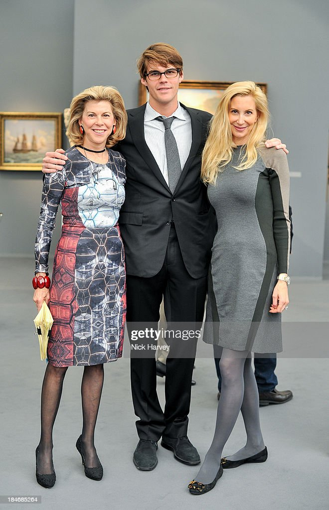 Frances Beatty Adler, Alexander Adler and Gabrielle Bacon attend the private view for Frieze Masters on October 15, 2013 in London, England.