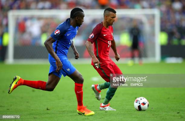 France's Blaise Matuidi and Portugal's Nani battle for the ball