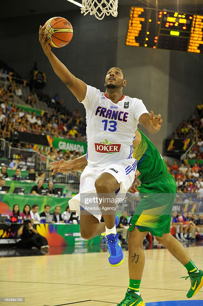 France's Boris Diaw (13) in action during the 2014 FIBA World basketball championships group A match between France and Brazil at the Palacio Municipal de Deportes in Granada, Spain on August 30, 2014.