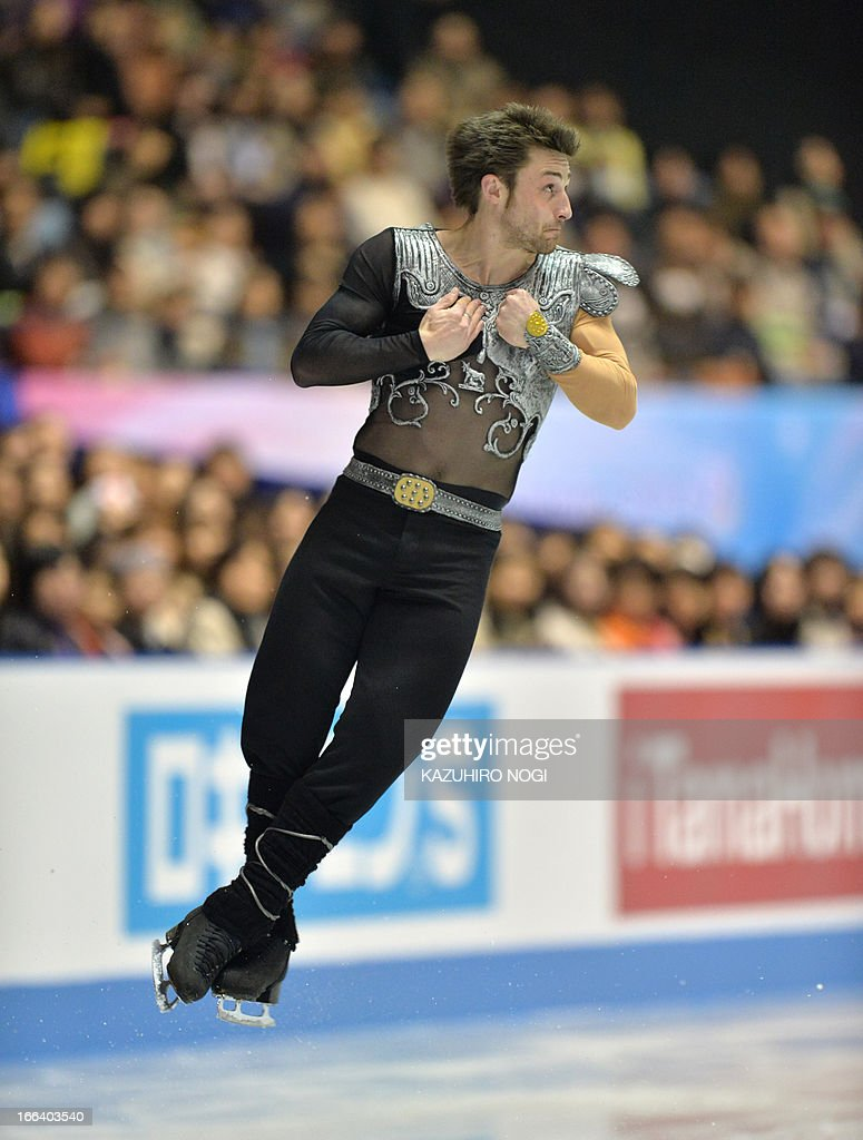 France's Brian Joubert performs in the men's free skating at the World Team Trophy figure skating competition in Tokyo on April 12, 2013. AFP PHOTO / KAZUHIRO NOGI