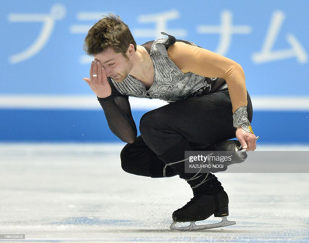 France's Brian Joubert performs in the men's free skating at the World Team Trophy figure skating competition in Tokyo on April 12, 2013.