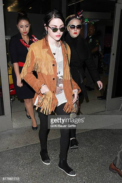 Frances Cobain is seen at LAX on March 25 2016 in Los Angeles California