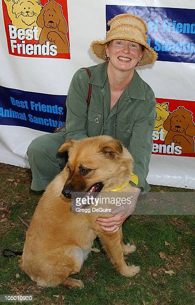 Frances Conroy during Best Friends Animal Sanctuary's Pet Adoption Festival at Johnny Carson Park in Burbank California United States