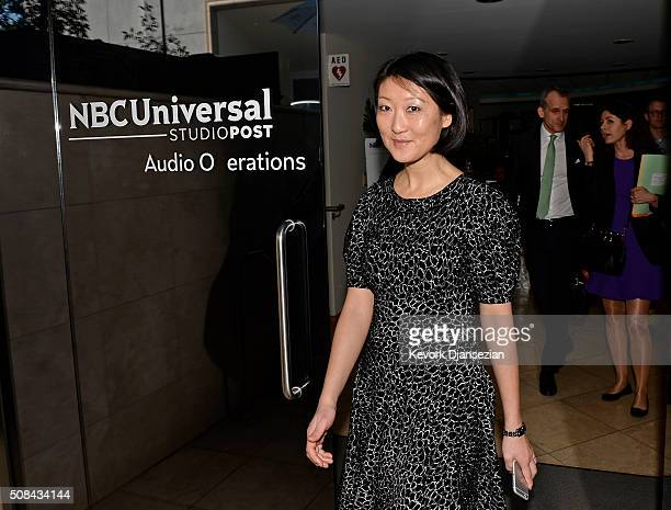 France's Culture Minister Mme Fleur Pellerin tours Universal Studios after professional meeting regarding Tax rebate during her visit to Los Angeles...