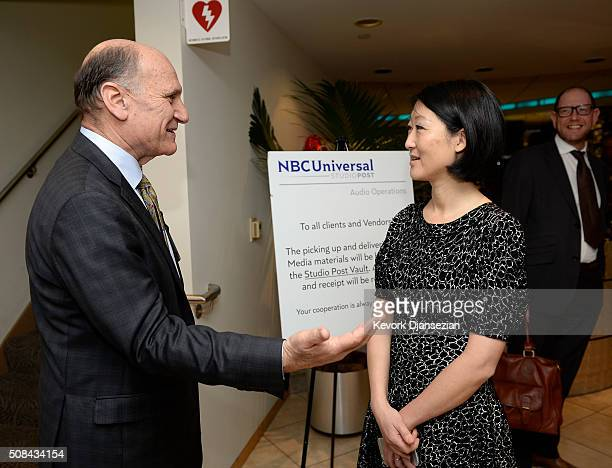 France's Culture Minister Mme Fleur Pellerin tours Universal Studios with Steven Nissen Senior Vice President Legal Government Affairs NBC Universal...