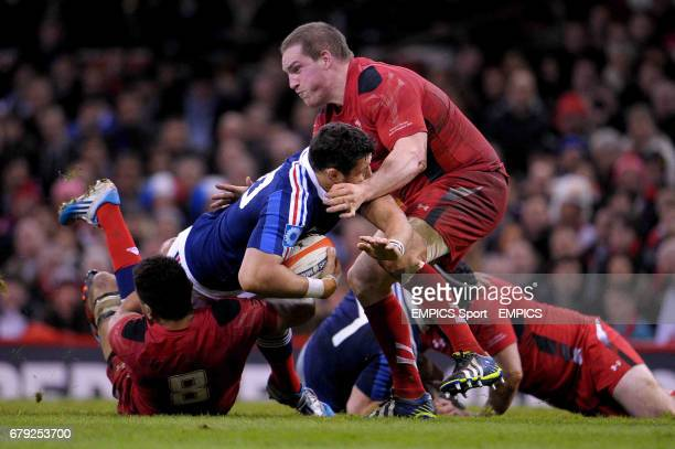 France's Damien Chouly is tackled
