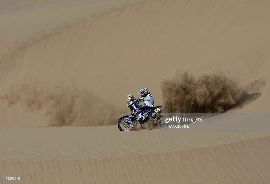 France's David Casteu competes in the Stage 6 of the 2013 Dakar Rally between Arica and Calama, Chile, on January 10, 2013. The rally is taking place in Peru, Argentina and Chile from January 5 to 20.