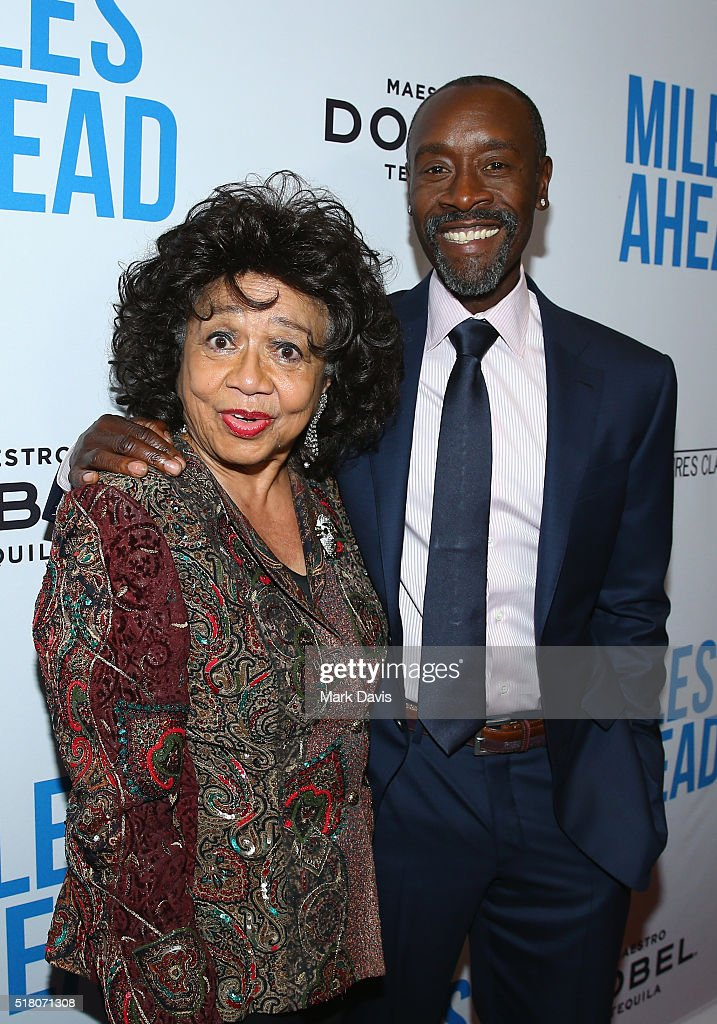 Frances Davis and director/actor Don Cheadle attend the premiere of Sony Pictures Classics' 'Miles Ahead' at Writers Guild Theater on March 29, 2016 in Beverly Hills, California.