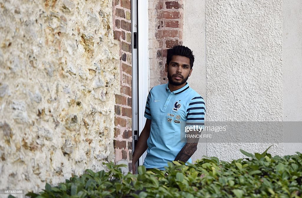France's defender <a gi-track='captionPersonalityLinkClicked' href=/galleries/search?phrase=Benoit+Tremoulinas&family=editorial&specificpeople=4530463 ng-click='$event.stopPropagation()'>Benoit Tremoulinas</a> arrives at the French national football team training base in Clairefontaine, on March 23, 2015 on the first day of their preparation for the upcoming friendly football matches.
