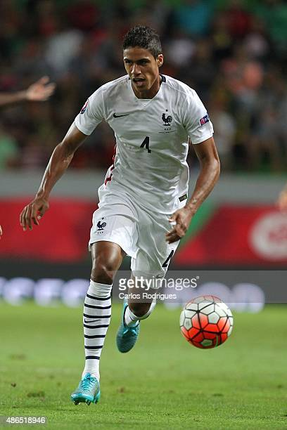 France's defender Raphael Varane during the Friendly match between Portugal and France on September 04 2015 in Lisbon Portugal