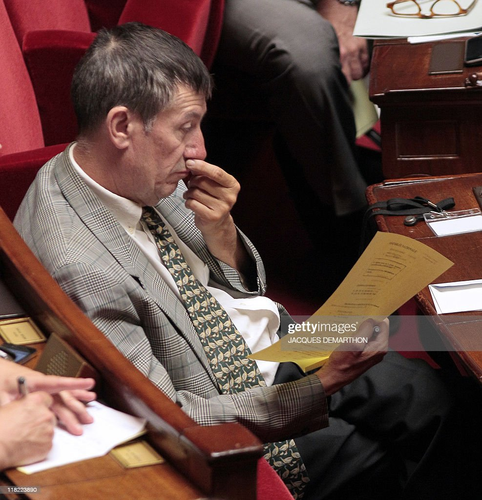 France's deputy of Bas-Rhin Alain Ferry attends the weekly session of questions to the government on July 5, 2011 at the National Assembly in Paris.