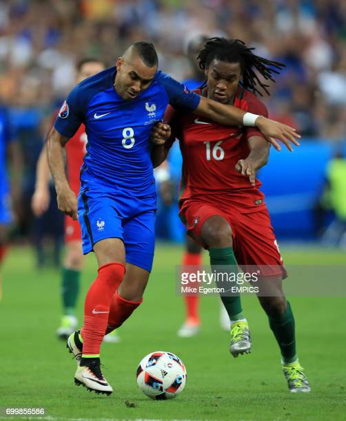 France's Dimitri Payet and Portugal's Renato Sanches battle for the ball