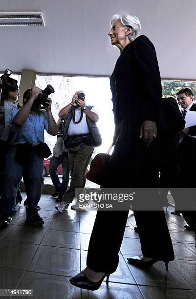 France's Finance Minister Christine Lagarde arrives at the Finance Ministry in Brasilia on May 30 2011 to meet her Brazilian counterpart Guido...