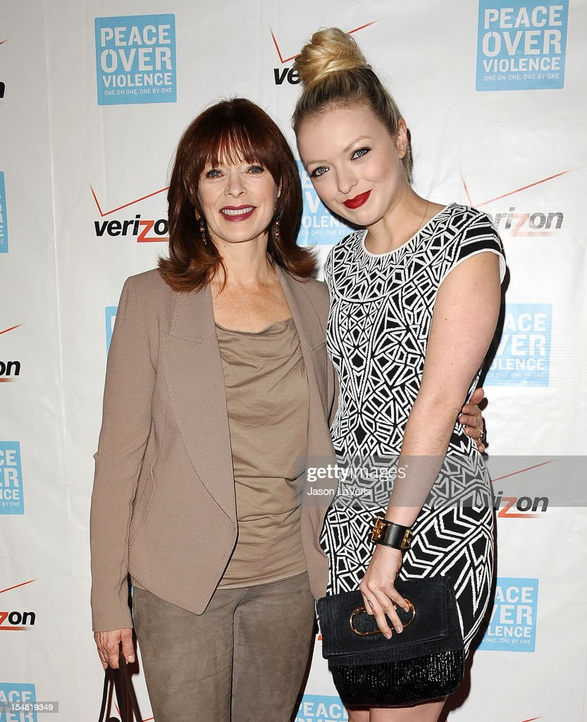 <a gi-track='captionPersonalityLinkClicked' href=/galleries/search?phrase=Frances+Fisher&family=editorial&specificpeople=211520 ng-click='$event.stopPropagation()'>Frances Fisher</a> and Francesca Eastwood attend the 41st annual Peace Over Violence Humanitarian Awards at Beverly Hills Hotel on October 26, 2012 in Beverly Hills, California.