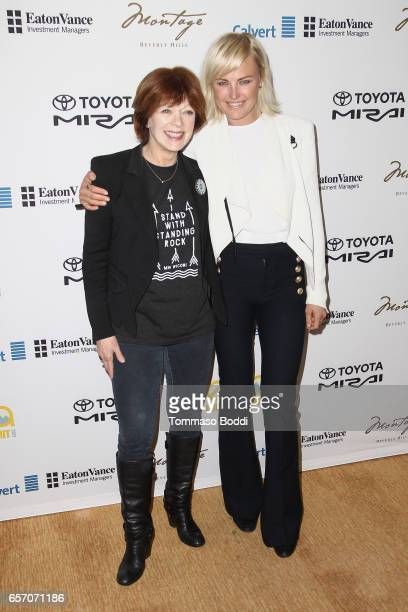 Frances Fisher and Malin Akerman attend the EMA Impact Summit held at the Montage Beverly Hills on March 23 2017 in Beverly Hills California