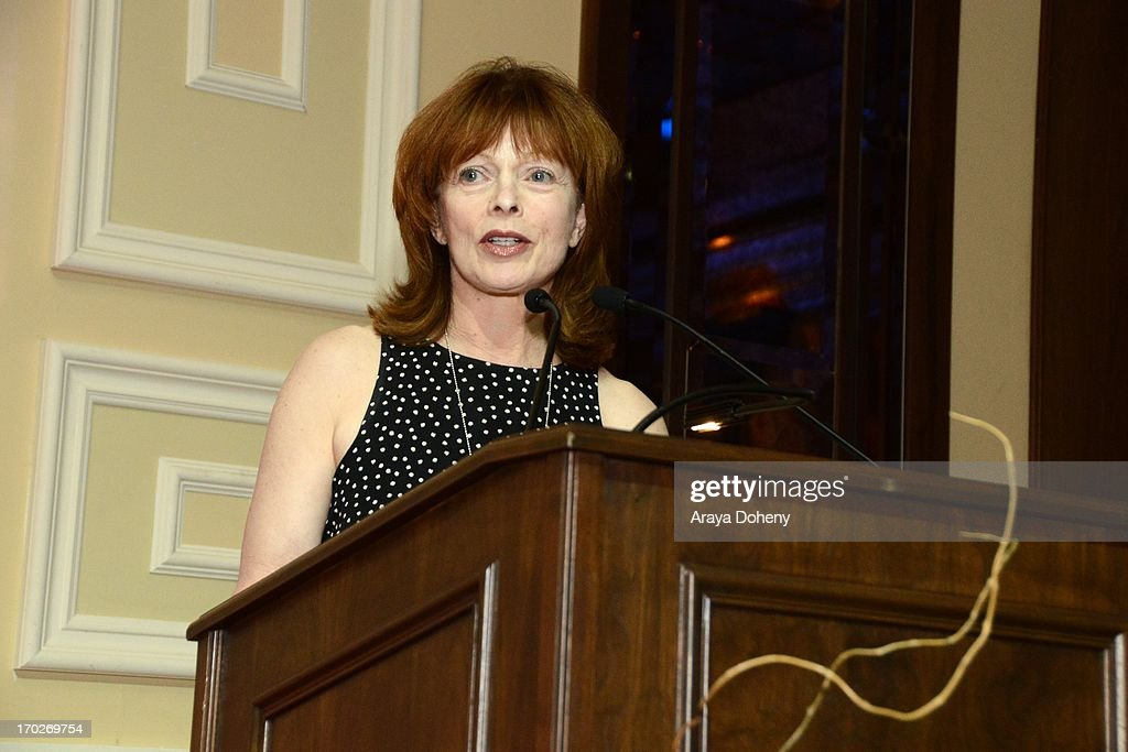 <a gi-track='captionPersonalityLinkClicked' href=/galleries/search?phrase=Frances+Fisher&family=editorial&specificpeople=211520 ng-click='$event.stopPropagation()'>Frances Fisher</a> speaks at the the Actors Fund's 17th annual Tony Awards viewing party held at Taglyan Cultural Complex on June 9, 2013 in Hollywood, California.