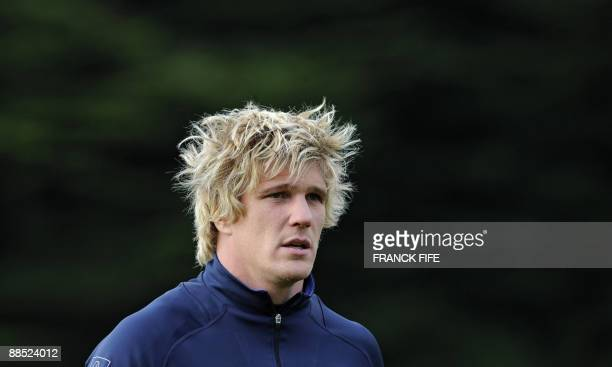 France's flanker Remy Martin is pictured during a training session in Porirua on June 17 2009 France on June 17 made three changes to their starting...