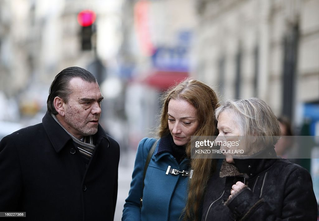 France's Florence Cassez (C), flanked by her mother Charlotte Cassez (R) and her lawyer Frank Berton, leaves after a lunch with former French president Nicolas Sarkozy on January 28, 2013 in Paris. Cassez was freed from a Mexican prison four days before, following a Supreme Court ruling that police violated her rights by staging her arrest for kidnapping on national television seven years ago. After facing 60 years in jail, Cassez, 38, took a flight to Paris, hours after three of five justices voted for her immediate release in a case that had strained Franco-Mexican ties.