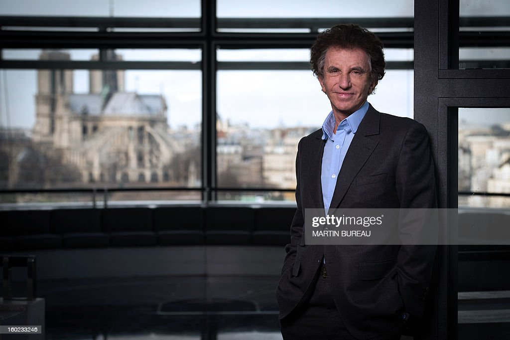 France's former culture minister and new president of Paris's famed Arab World Institute (AWI), Jack Lang, poses on January 28, 2013 in Paris. In his appointment, Lang will replace both the president of the board as well as the president of the institute's high council, who have for the past three years shared responsibilities to direct the body. Lang, 73, who served as a culture minister under former president Francois Mitterrand for 10 years, replaces Bruno Levallois on the board and Renaud Muselier on the high council. AFP PHOTO MARTIN BUREAU