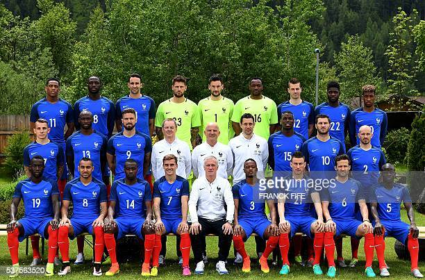 France's forward Anthony Martial forward Dumitri Payet defender Adil Rami goalkeeper Benoit Costil goalkeeper Hugo Lloris goalkeeper Steve Mandanda...