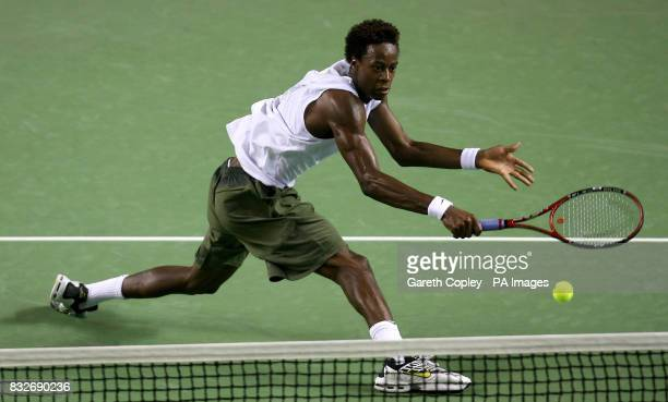 France's Gael Monfils during his third round match against France's Richard Gasquet in the Australian Open at Melbourne Park Melbourne Australia