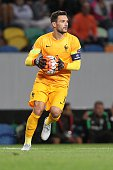 France's goalkeeper Hugo Lloris during the Friendly match between Portugal and France on September 04 2015 in Lisbon Portugal