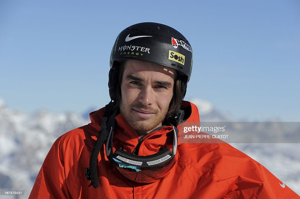 France's halfpipe skier Kevin Rolland poses for a picture during a training session in Tignes on November 8, 2013 ahead of the 2014 Winter Olympics in Sochi.
