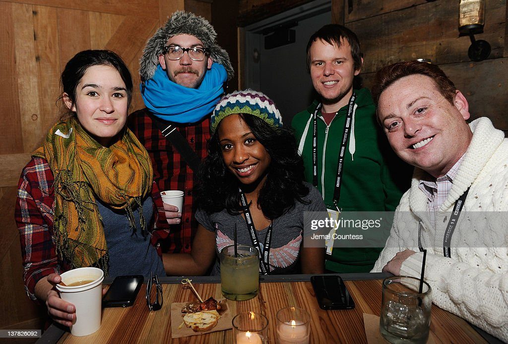 Frances Hall, Michelle Patrick, Tim Golden and Buddy Eyre attend the Alfred P. Sloan Foundation Reception & Prize Announcement during the 2012 Sundance Film Festival on January 27, 2012 in Park City, Utah.