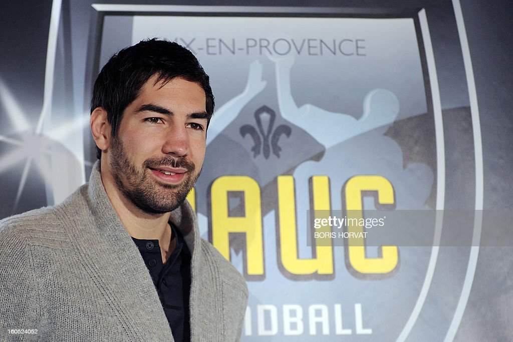 France's handball player Nikola Karabatic poses after he signed a contract with the handball club of Aix-en-Provence (PAUC) on February 2, 2013 in Aix-en-Provence, southern France. AFP PHOTO / BORIS HORVAT