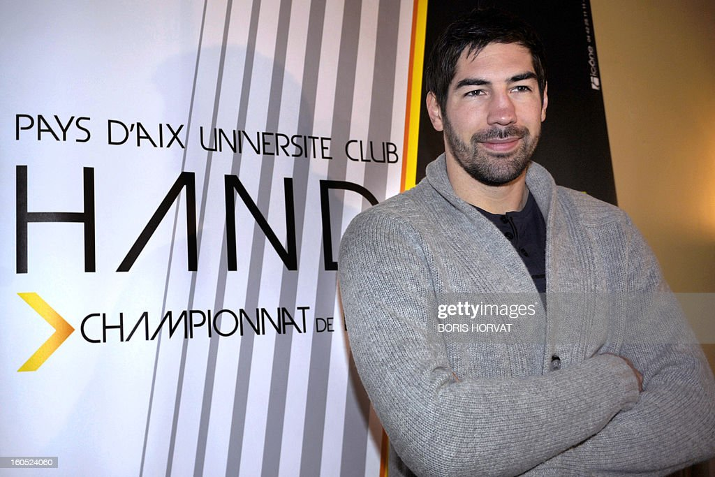 France's handball player Nikola Karabatic poses after he signed a contract with the handball club of Aix-en-Provence (PAUC) on February 2, 2013 in Aix-en-Provence, southern France.