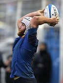 France's hooker Remi Bonfils plays a lineout during a Rugby Union test match against Argentina's Los Pumas at Jose Fierro stadium in Tucuman...