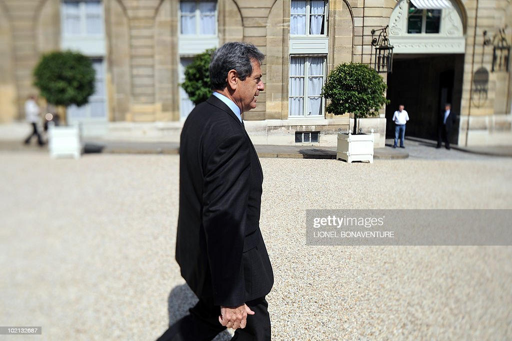 France's Junior Minister for Urban Affairs Christian Blanc leaves the presidential Elysee palace at the end of the weekly cabinet meeting on June 16, 2010 in Paris.