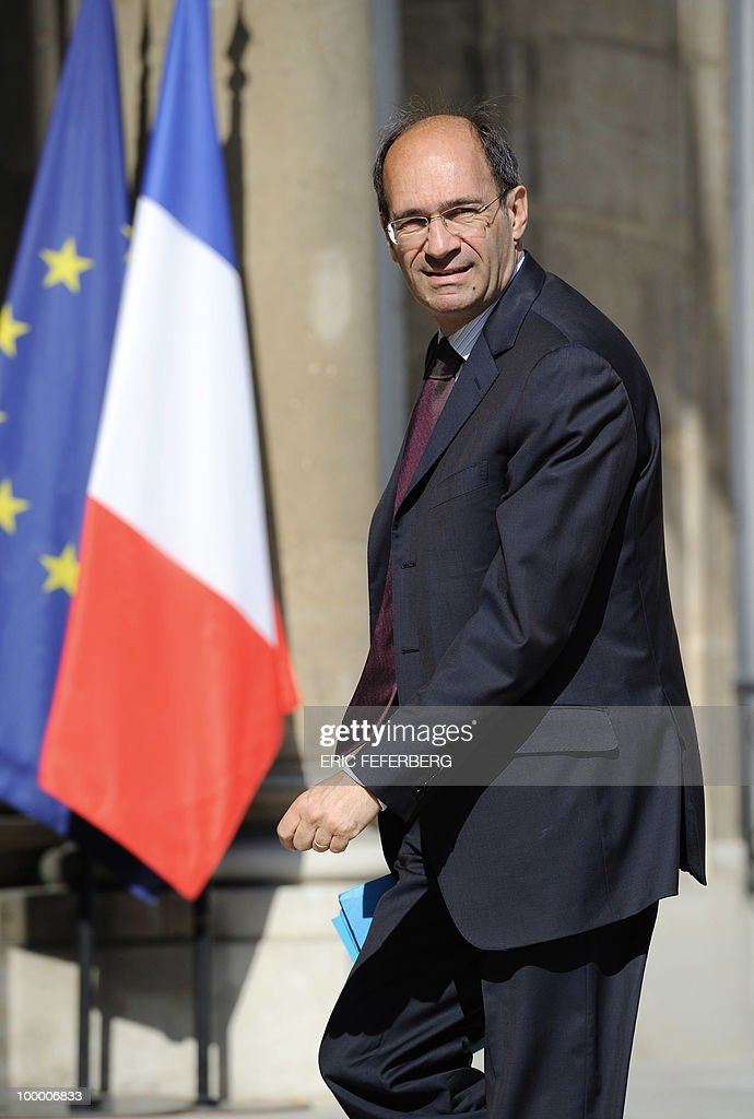 France's Labour, Social Relations and Solidarity minister Eric Woerth arrives at the Elysee Palace on May 20, 2010 in Paris to attend a second meeting on public deficit with French President Nicolas Sarkozy. France reopened its 2010 budget to add in the 111 billion euros it has promised to contribute to Europe's new 750-billion-euro emergency stability fund, Finance Minister Christine Lagarde said yesterday.
