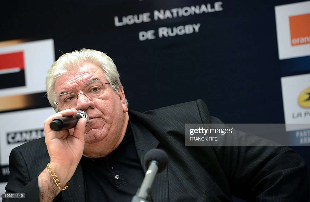 France's Ligue Nationale de Rugby (French national rugby league, LNR), newly elected president Paul Goze speaks during a press conference on November 16, 2012 in Paris, after his nomination. Paul Goze succeeds to Pierre-Yves Revol .