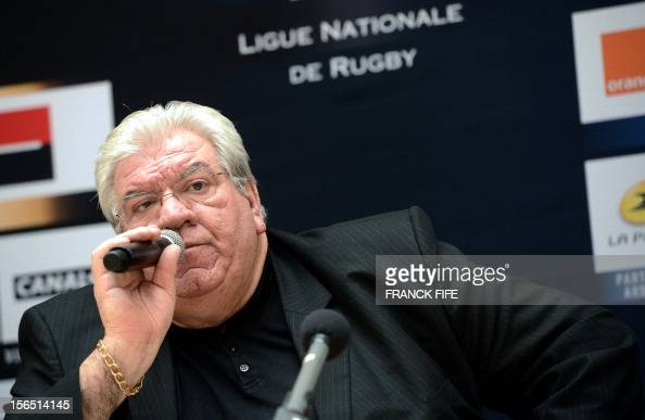 France's Ligue Nationale de Rugby newly elected president Paul Goze speaks during a press conference on November 16 2012 in Paris after his...
