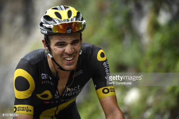 France's Lilian Calmejane rides in a breakaway during the 1875 km eighth stage of the 104th edition of the Tour de France cycling race on July 8 2017...