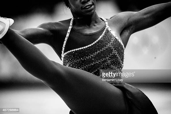 France's Mae Berenice Meite performs in the Women's Figure Skating Short Program at the Iceberg Skating Palace during the Sochi Winter Olympics on...