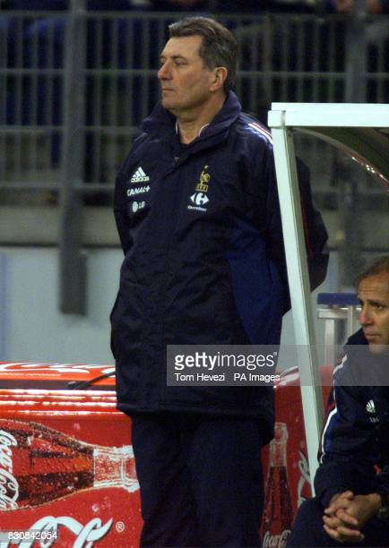 France's Manager Roger Lemerre during the international friendly match between France and Scotland at the Stade De France