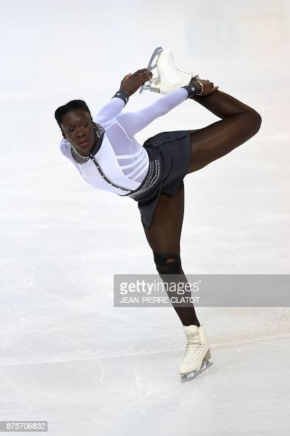 France's Mar Berenice Meite performs during the Ladies Free Skating during the Internationaux de France ISU Grand Prix of Figure Skating in Grenoble...