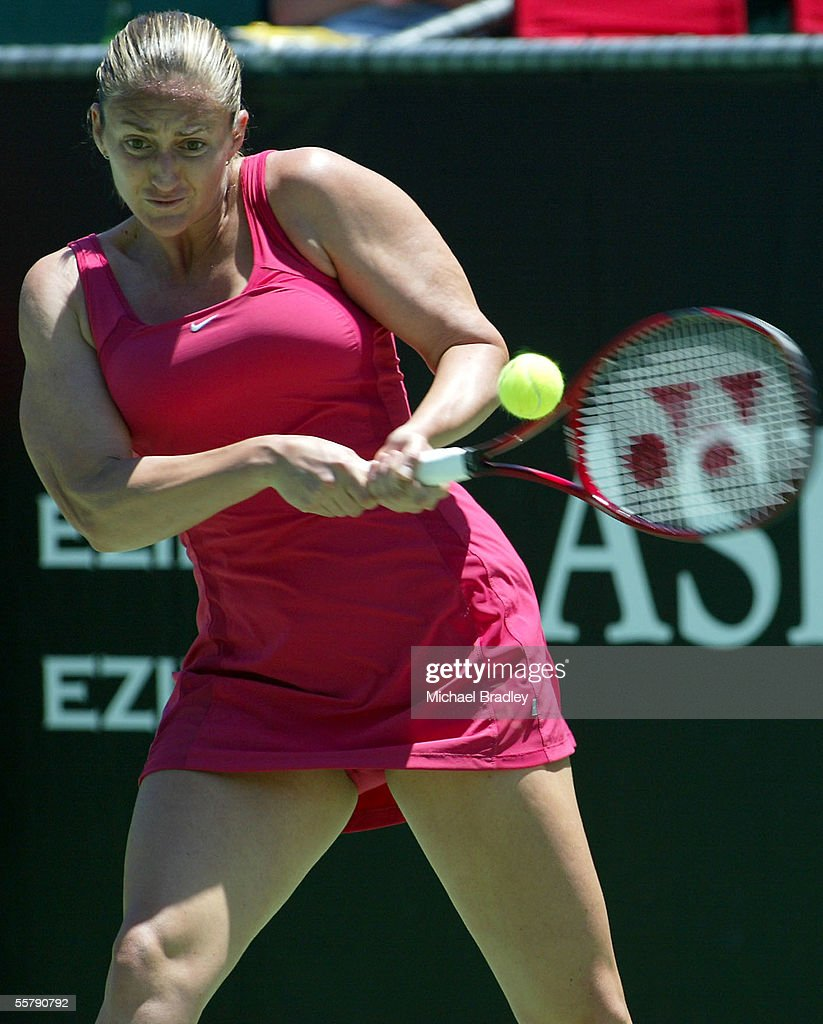 France s Mary Pierce in action during the match be