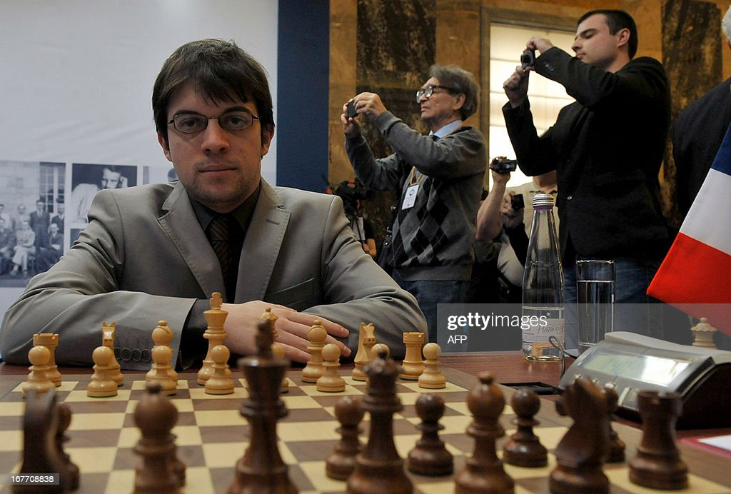 France's Maxime Vachier-Lagrave takes part in the Alekhine Memorial chess tournament in St.Petersburg, on April 28, 2013.