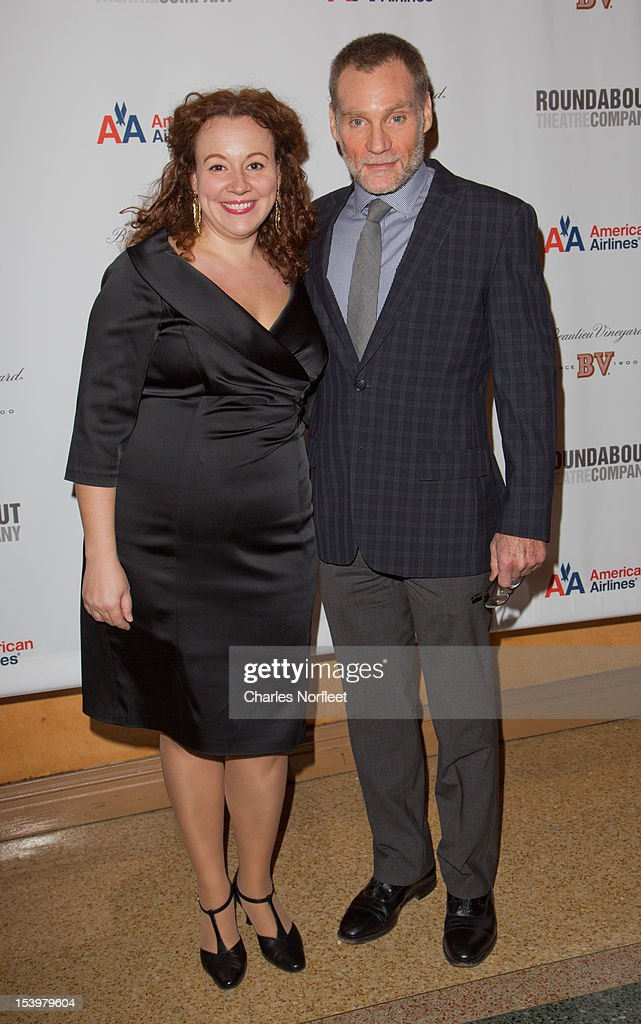Frances Mercanti-Anthony and Peter Bradbury attend 'Cyrano De Bergerac' Broadway Opening Night After Party at American Airlines Theatre on October 11, 2012 in New York City.