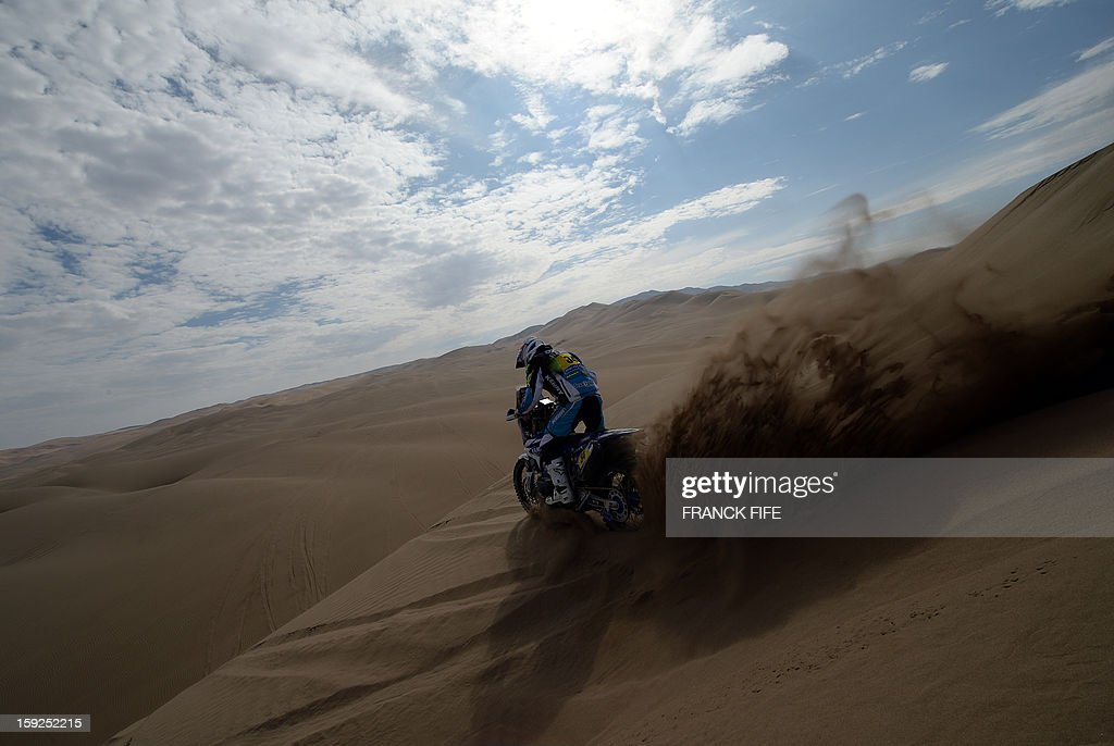 France's Michael Metge competes in the Stage 6 of the 2013 Dakar Rally between Arica and Calama, Chile, on January 10, 2013. The rally is taking place in Peru, Argentina and Chile from January 5 to 20.